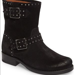 FRYE Vicky Stud Engineer Leather Boots